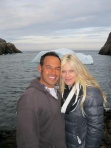 Shaun and Shelby and iceberg