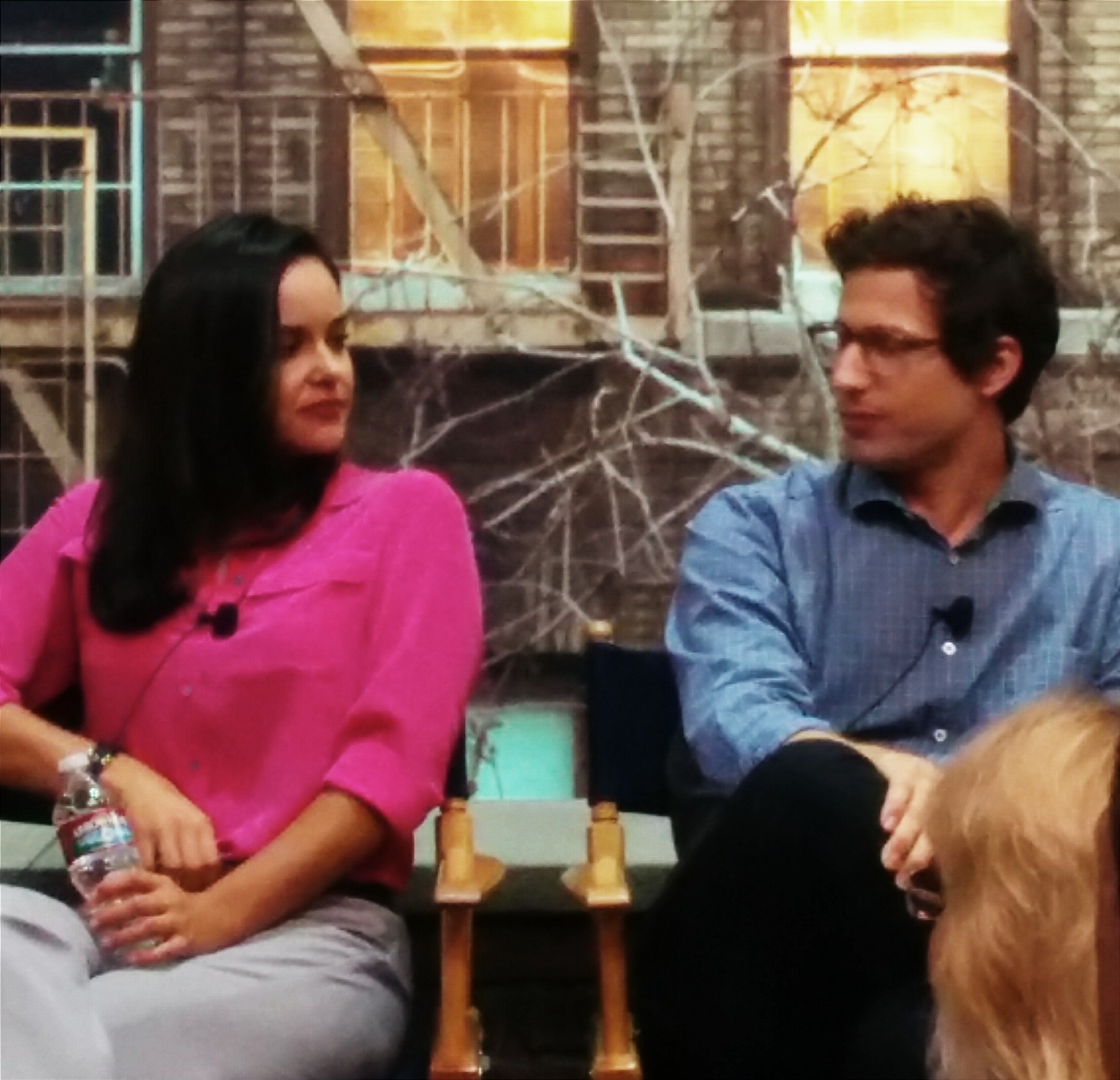 Andy Samberg And Melissa Fumero