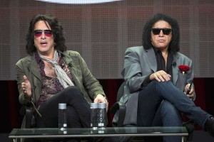 "Stanley and Simmons of KISS attend a panel for ""4th and Loud"" during TCA Cable Summer Press Tour in Beverly Hills"