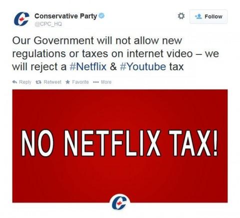 no netflix tax tweet