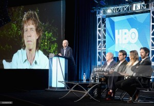 speaks onstage during the HBO Winter 2016 TCA Panel at Langham Hotel on January 7, 2016 in Pasadena, California.