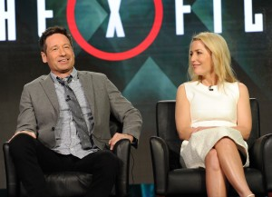 2016 FOX WINTER TCA: (L-R) Cast Members David Duchovny and Gillian Anderson during THE X FILES panel at the Langham Hotel, Friday, Jan. 15 in Pasadena, CA. CR: Frank Micelotta/FOX