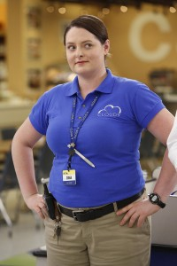 "SUPERSTORE--  ""Demotion"" Episode 110 -- Pictured: Lauren Ash as Dina -- (Photo by: Greg Gayne/NBC)"