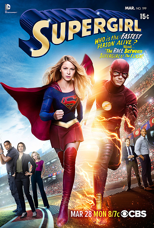 """""""Worlds Finest"""" -- Kara gains a new ally when the lightning-fast superhero The Flash (Grant Gustin) suddenly appears from an alternate universe and helps Kara battle Siobhan, aka Silver Banshee, and Livewire in exchange for her help in finding a way to return him home, on SUPERGIRL, Monday, March 28 (8:00-9:00 PM, ET/PT) on the CBS Television Network. Grant Gustin crosses over as The Flash. © 2015 WBEI. All rights reserved."""