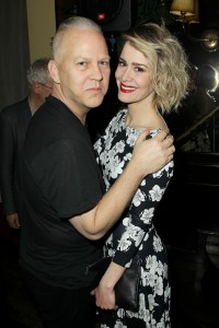 "- New York, NY - 12/7/15 - fox21 Television Studios Presents the Special New York Screening & Dinner for ""American Crime Story: The People v. O.J. Simpson"". -PICTURED: Ryan Murphy(Producer), Sarah Paulson -PHOTO by: Marion Curtis/Starpix -Filename: MC_15_01087574.JPG -Location: The Monkey Bar Startraks Photo New York, NY For licensing please call 212-414-9464 or email sales@startraksphoto.com Image may not be published in any way that is or might be deemed defamatory, libelous, pornographic, or obscene. Please consult our sales department for any clarification or question you may have. Startraks Photo reserves the right to pursue unauthorized users of this image. If you violate our intellectual property you may be liable for actual damages, loss of income, and profits you derive from the use of this image, and where appropriate, the cost of collection and/or statutory damages."