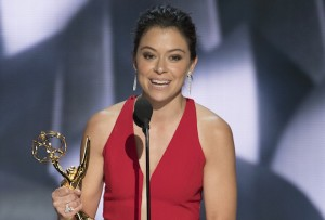 "THE 68TH EMMY(r) AWARDS - ""The 68th Emmy Awards"" broadcasts live from The Microsoft Theater in Los Angeles, Sunday, September 18 (7:00-11:00 p.m. EDT/4:00-8:00 p.m. PDT), on ABC and is hosted by Jimmy Kimmel. (ABC/Image Group LA) TATIANA MASLANY"