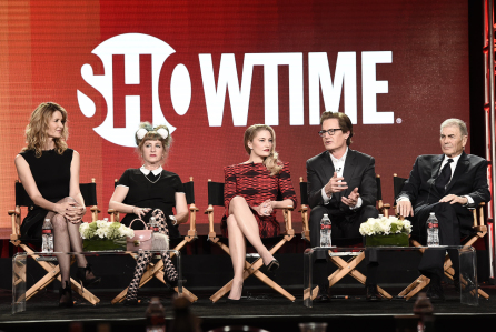 Laura Dern, Kimmy Roberston, Madchen Amick, Kyle Maclachlan and Robert Forster at the Showtime TCA Winter Press Tour 2017 Twin Peaks Panel in Pasadena, CA on January 9, 2017. Photo: Dan Steinberg/SHOWTIME