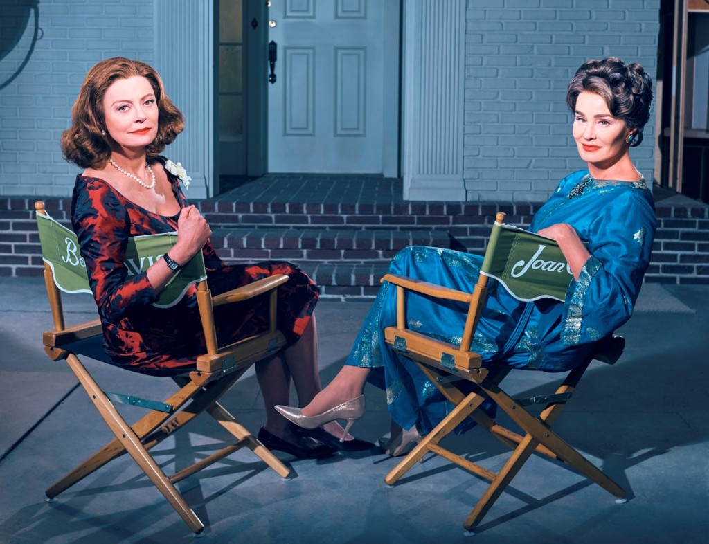 FEUD: BETTE & JOAN -- Pictured: (l-r) Susan Sarandon as Bette Davis, Jessica Lange as Joan Crawford. CR: Kurt Iswarienko/FX.
