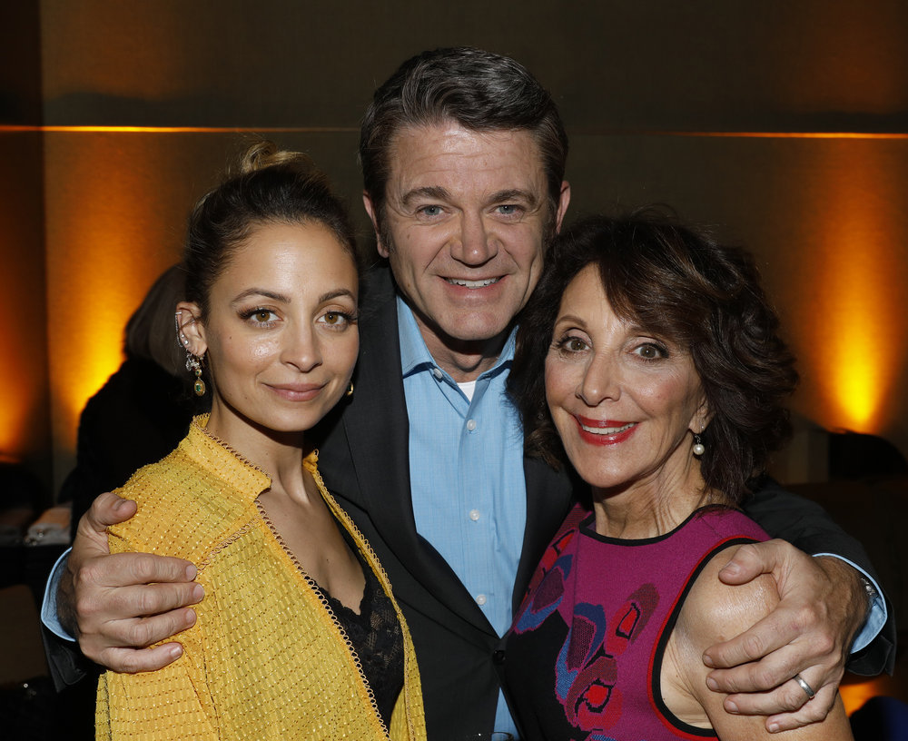 "NBCUNIVERSAL EVENTS -- NBC New York Midseason Press Day, March 2017 -- Pictured: (l-r) Nicole Richie, John Michael Higgins, Andrea Martin ""Great News"" on NBC -- (Photo by: Peter Kramer/NBCUniversal)"