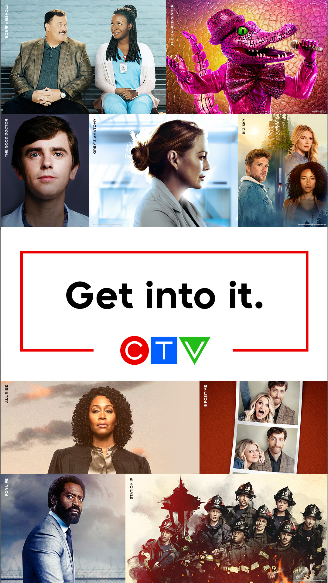 Ad for CTV's TV programming